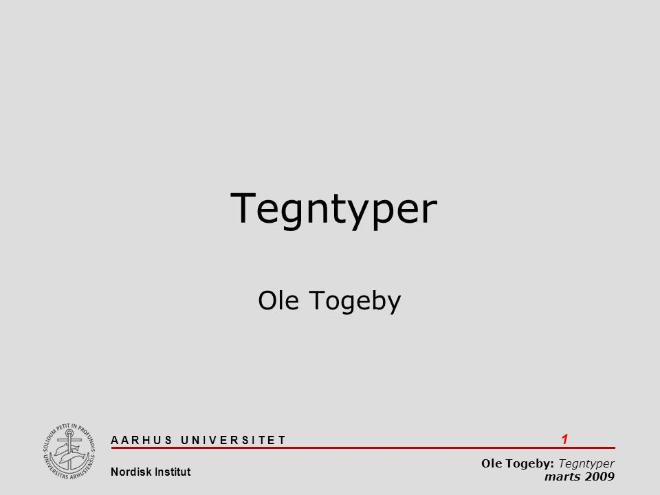 Tegntyper 08-04-2017 Tegntyper Ole Togeby Ole Togeby: tegntyper