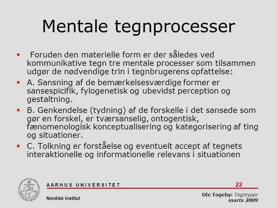 Mentale tegnprocesser