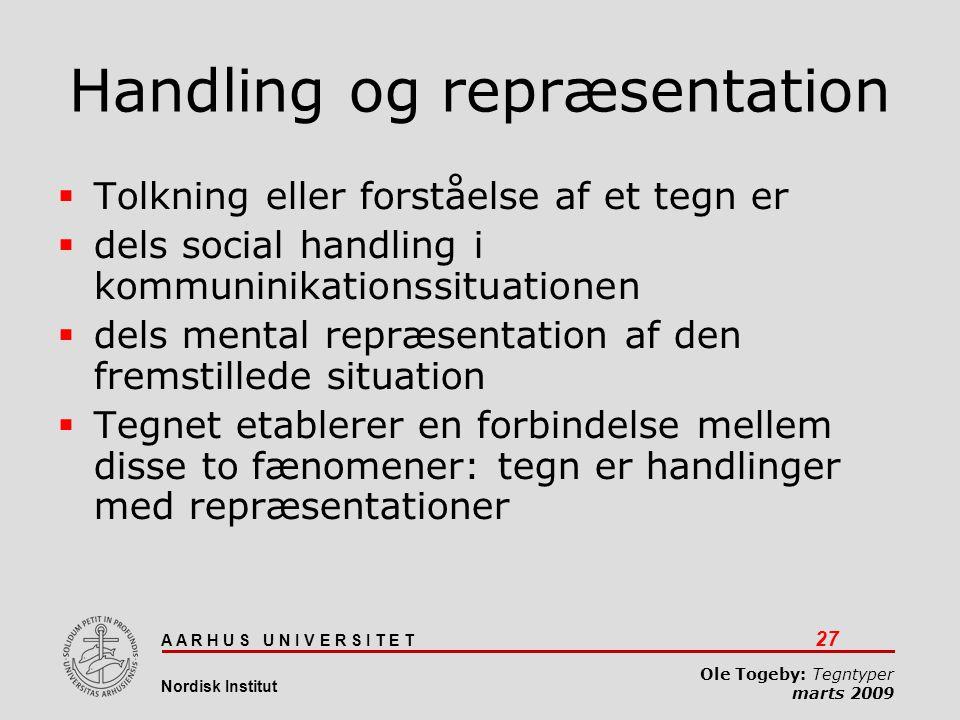 Handling og repræsentation