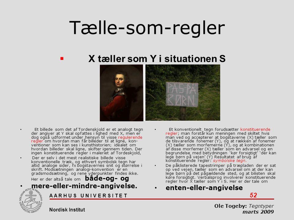 Tælle-som-regler X tæller som Y i situationen S