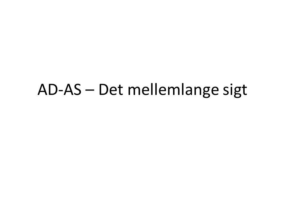 AD-AS – Det mellemlange sigt