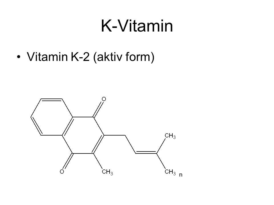 K-Vitamin Vitamin K-2 (aktiv form)