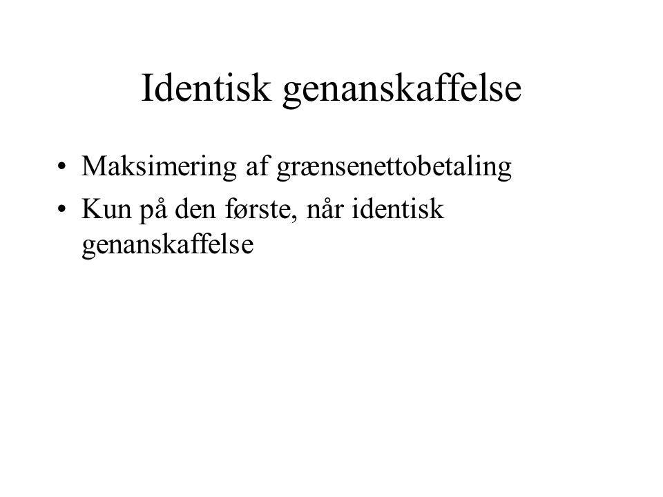 Identisk genanskaffelse