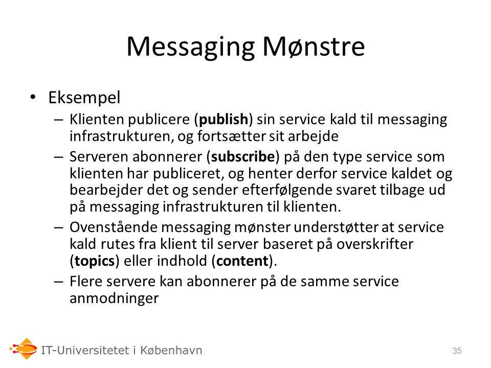 Messaging Mønstre Eksempel