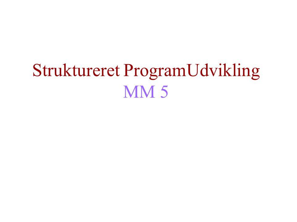 Struktureret ProgramUdvikling MM 5