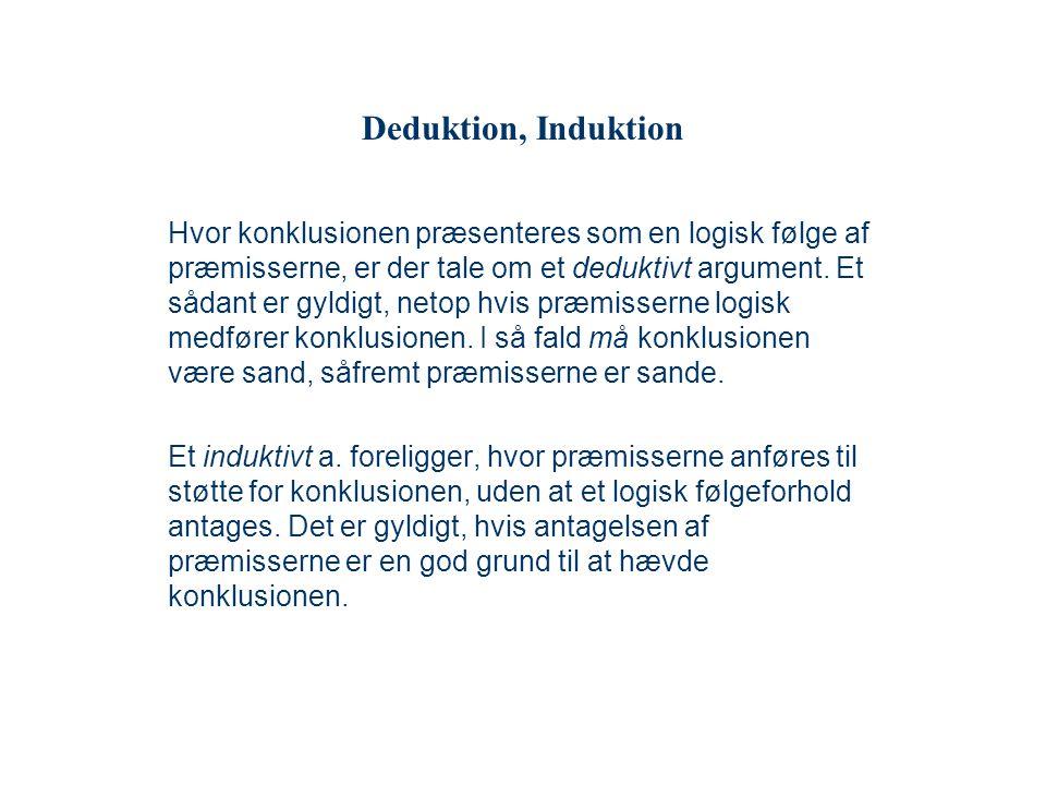 Deduktion, Induktion