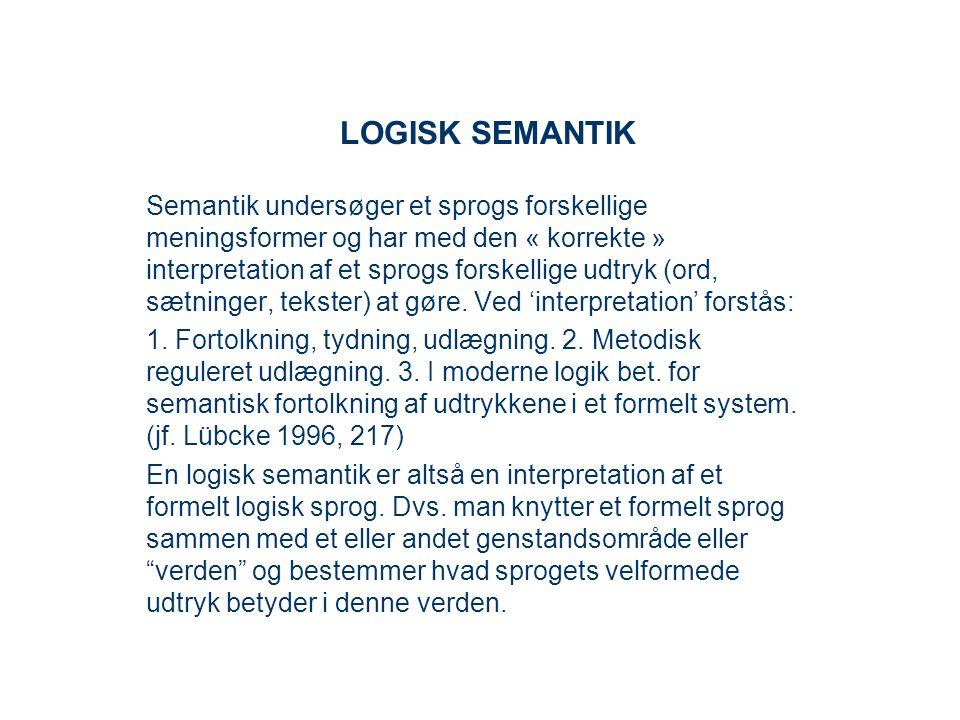 LOGISK SEMANTIK