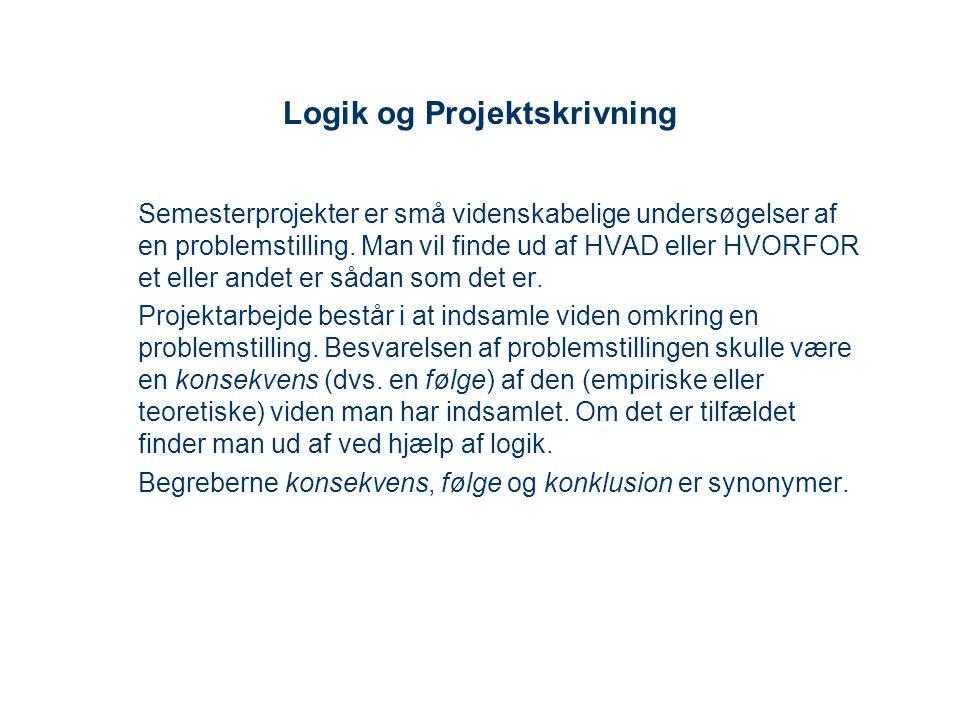 Logik og Projektskrivning