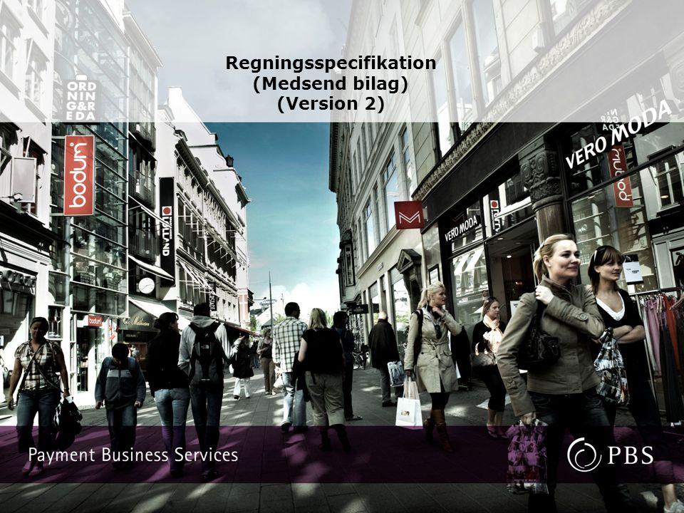 Regningsspecifikation (Medsend bilag) (Version 2)