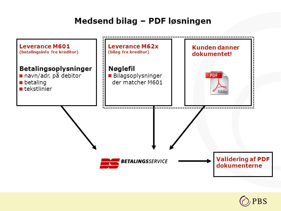 Medsend bilag – PDF løsningen