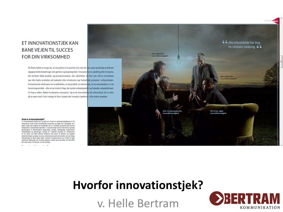 Hvorfor innovationstjek v. Helle Bertram