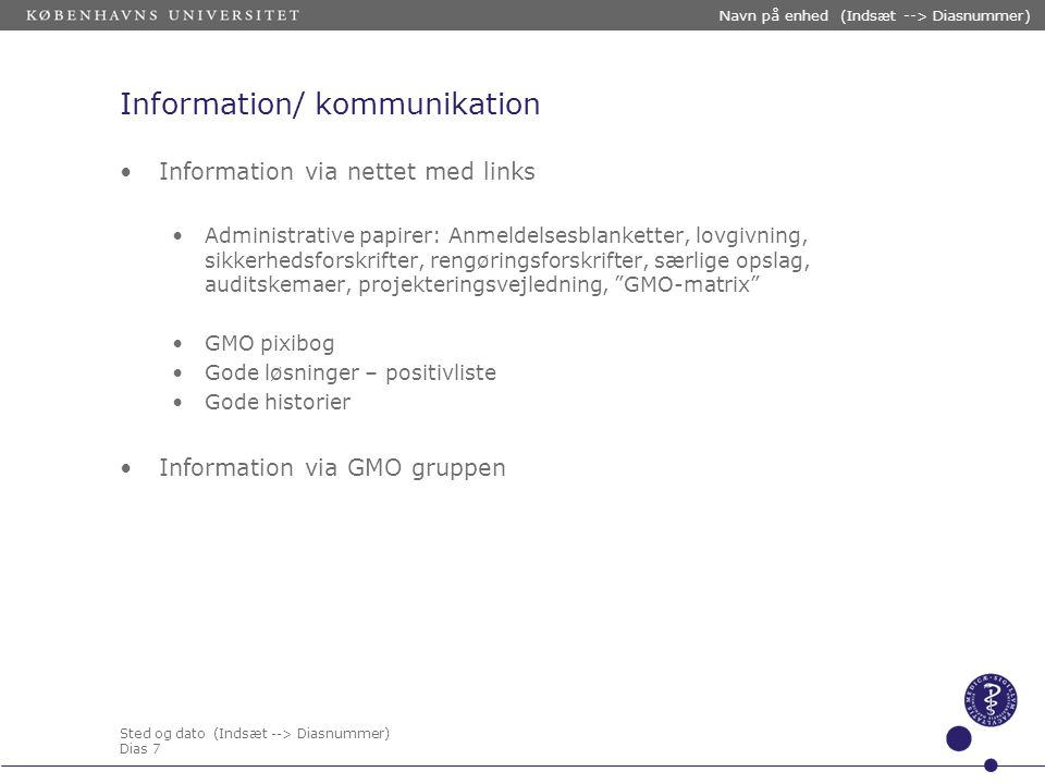 Information/ kommunikation