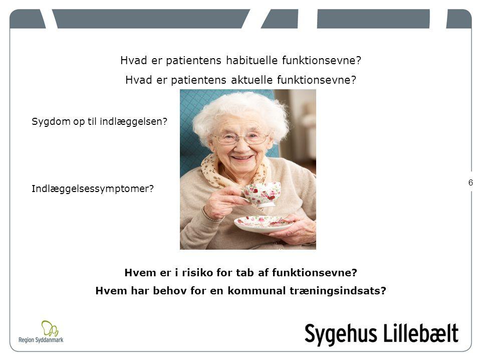 Hvad er patientens habituelle funktionsevne
