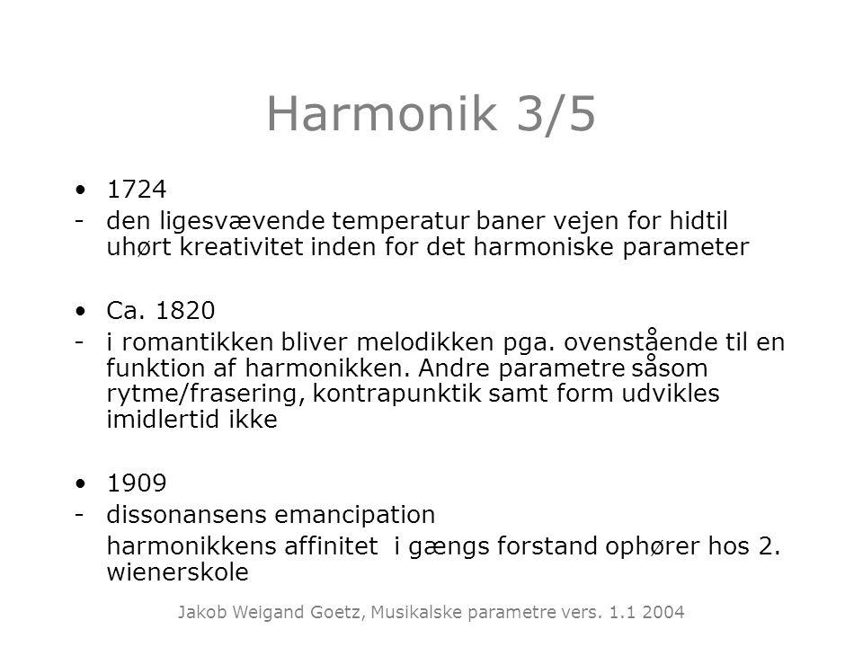 Harmonik 3/5 1724. - den ligesvævende temperatur baner vejen for hidtil uhørt kreativitet inden for det harmoniske parameter.