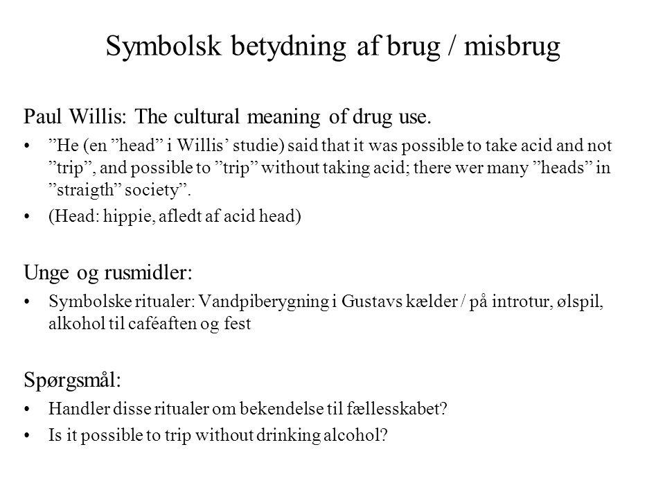 Symbolsk betydning af brug / misbrug