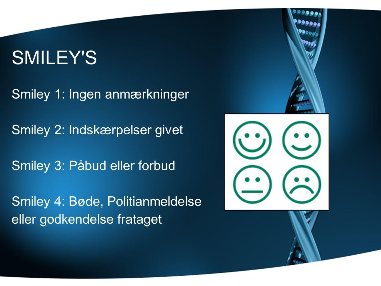 SMILEY S Smiley 1: Ingen anmærkninger Smiley 2: Indskærpelser givet
