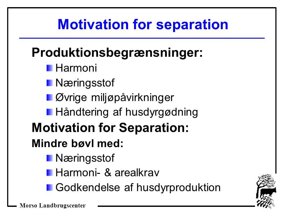 Motivation for separation