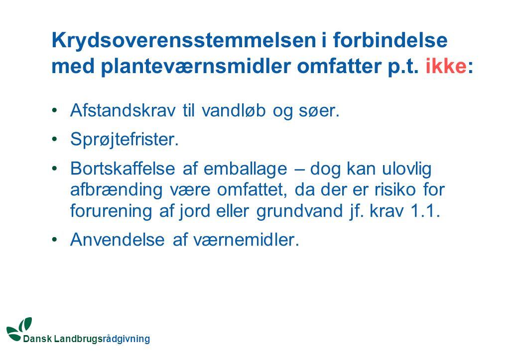 Krydsoverensstemmelsen i forbindelse med planteværnsmidler omfatter p