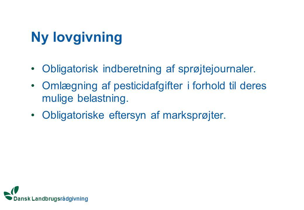 Ny lovgivning Obligatorisk indberetning af sprøjtejournaler.