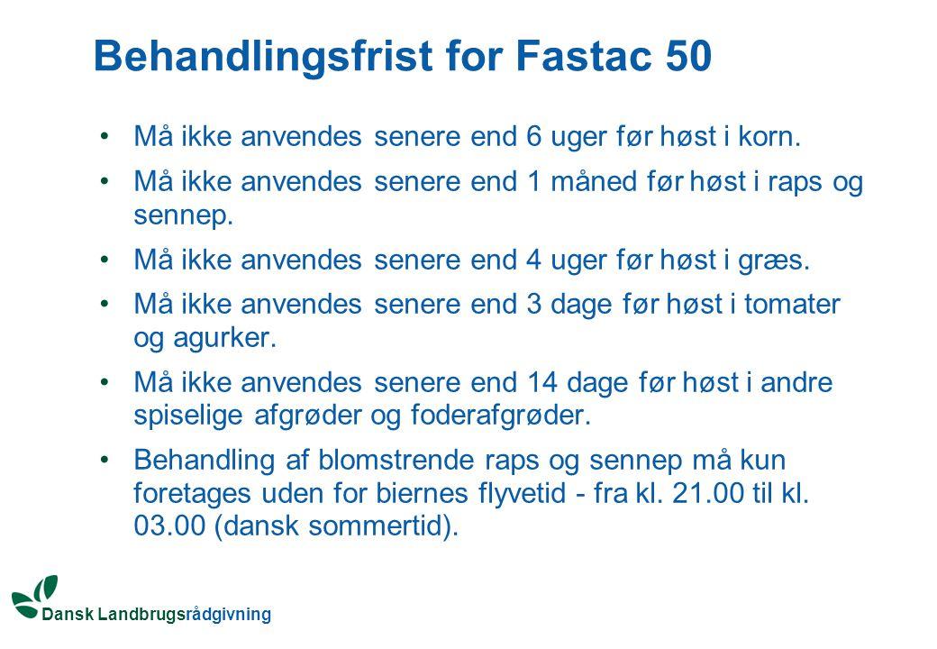 Behandlingsfrist for Fastac 50