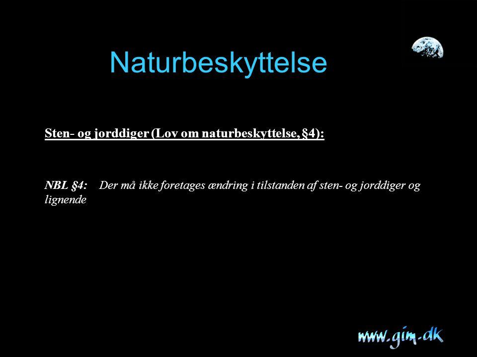 Naturbeskyttelse Sten- og jorddiger (Lov om naturbeskyttelse, §4):