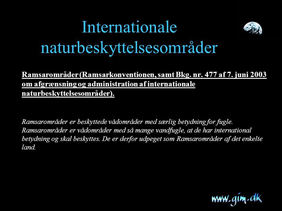 Internationale naturbeskyttelsesområder