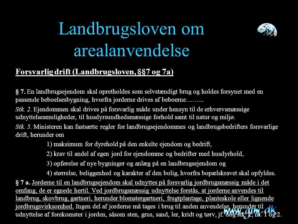 Landbrugsloven om arealanvendelse
