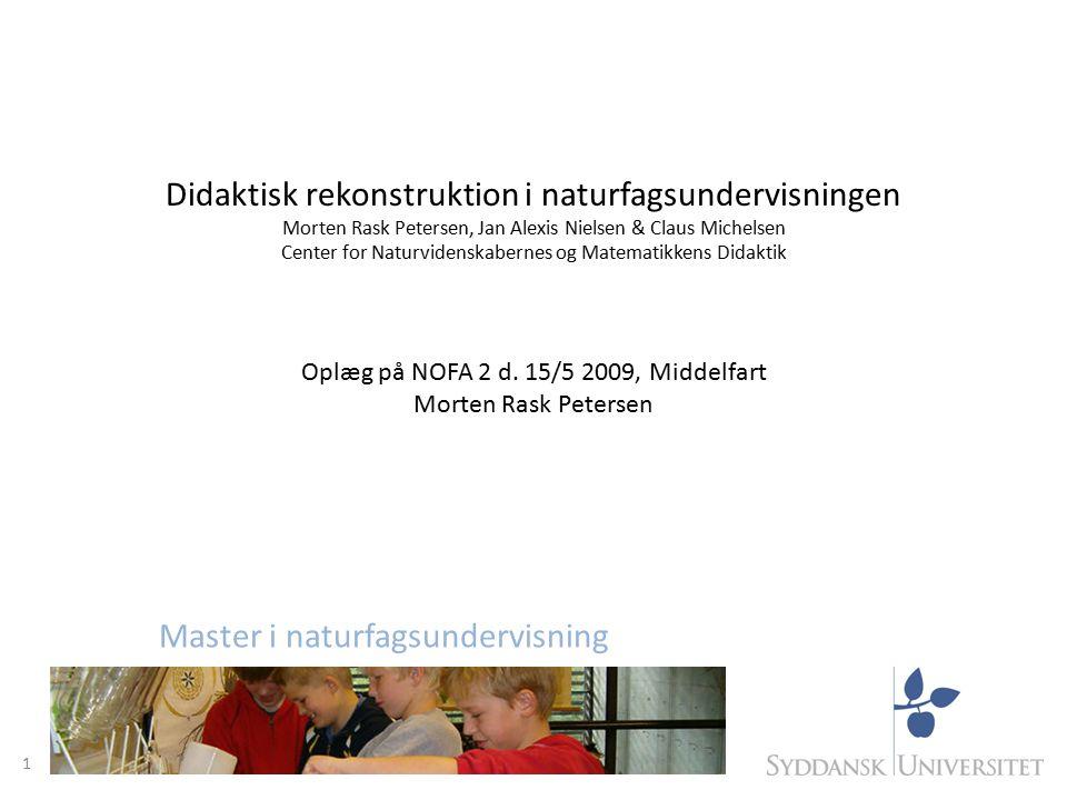 Didaktisk rekonstruktion i naturfagsundervisningen