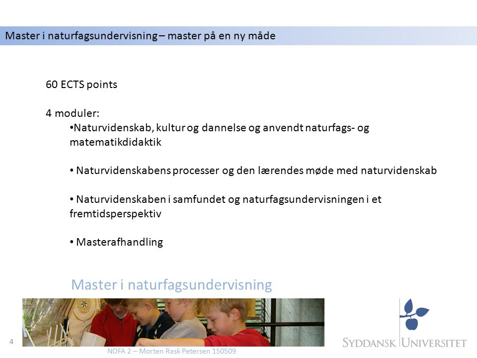 Master i naturfagsundervisning