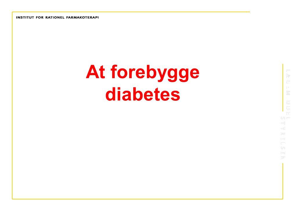 At forebygge diabetes