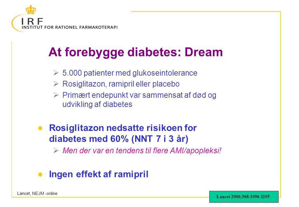 At forebygge diabetes: Dream