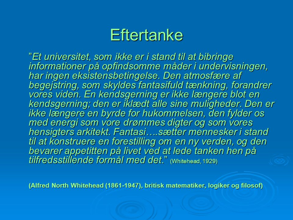 Eftertanke