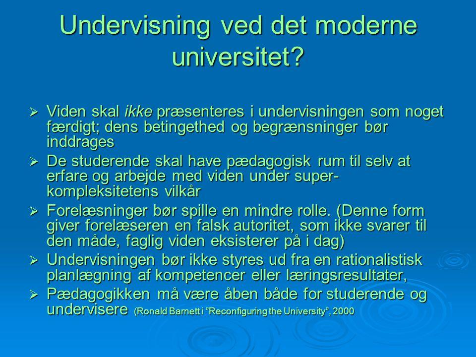 Undervisning ved det moderne universitet