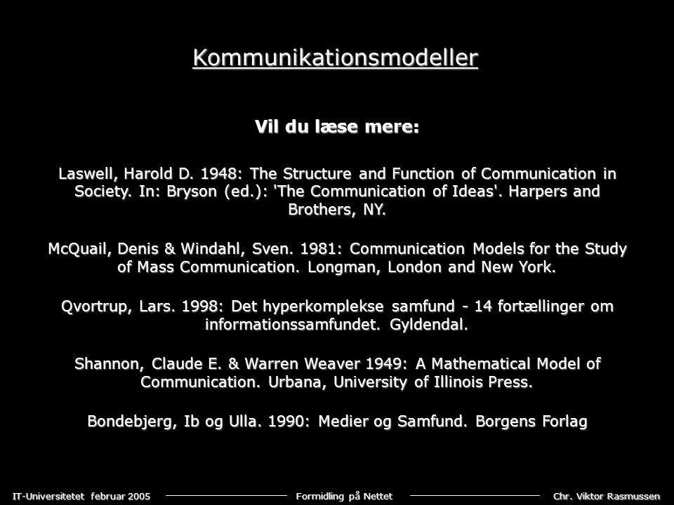 Bondebjerg, Ib og Ulla. 1990: Medier og Samfund. Borgens Forlag