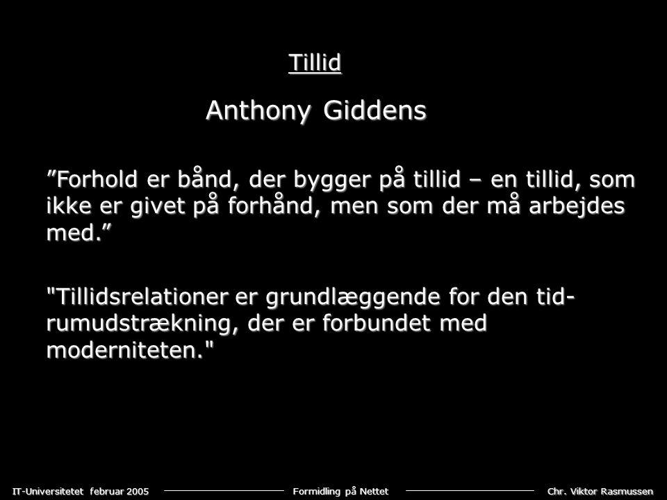 Anthony Giddens Tillid