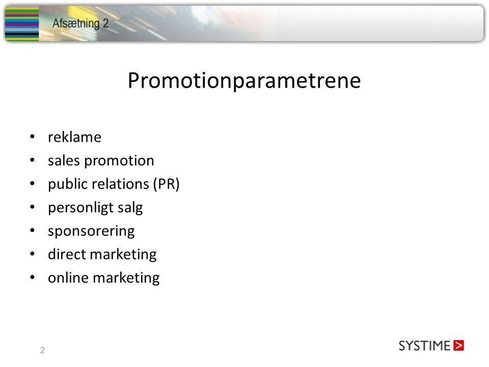 Promotionparametrene