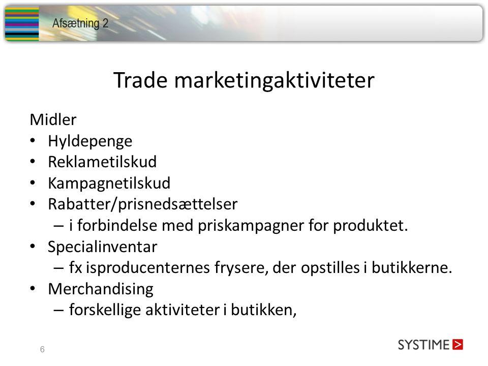 Trade marketingaktiviteter