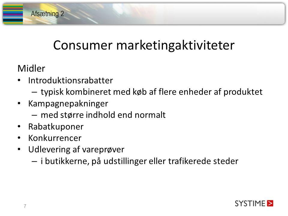 Consumer marketingaktiviteter