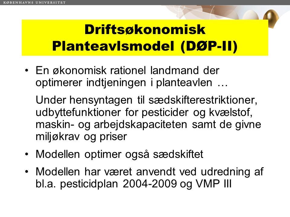 Driftsøkonomisk Planteavlsmodel (DØP-II)