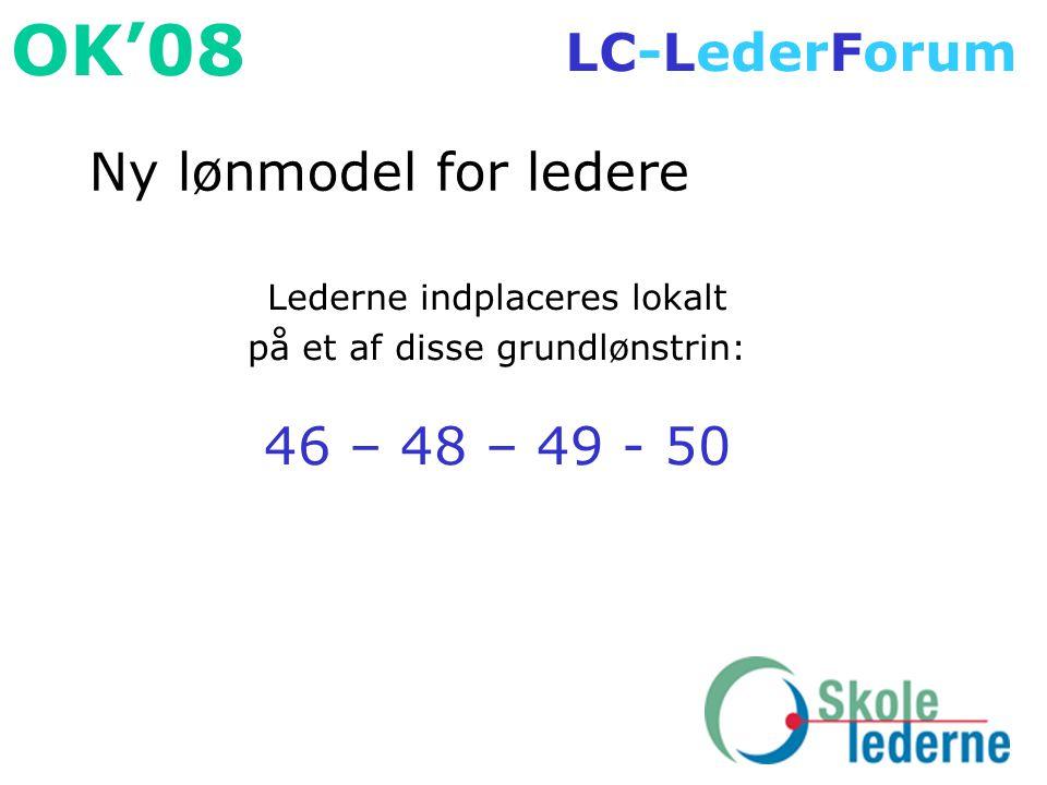 Ny lønmodel for ledere 46 – 48 – 49 - 50 Lederne indplaceres lokalt