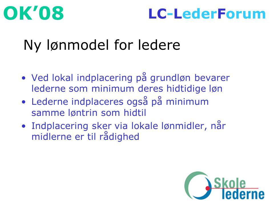 Ny lønmodel for ledere Ved lokal indplacering på grundløn bevarer lederne som minimum deres hidtidige løn.