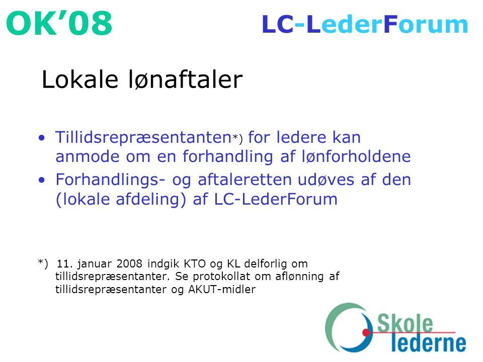 Lokale lønaftaler Tillidsrepræsentanten*) for ledere kan anmode om en forhandling af lønforholdene.