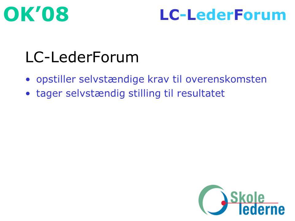 LC-LederForum opstiller selvstændige krav til overenskomsten