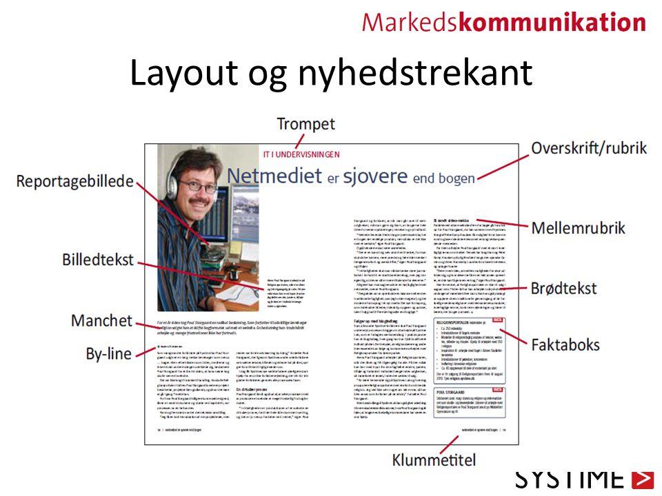 Layout og nyhedstrekant