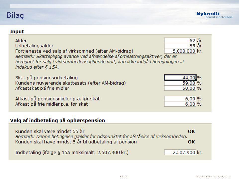 Bilag Nykredit Bank A/S 4/8/2017