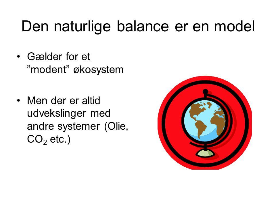 Den naturlige balance er en model