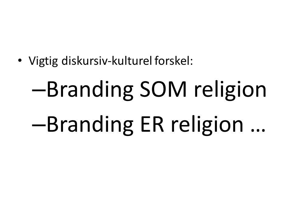 Branding SOM religion Branding ER religion …