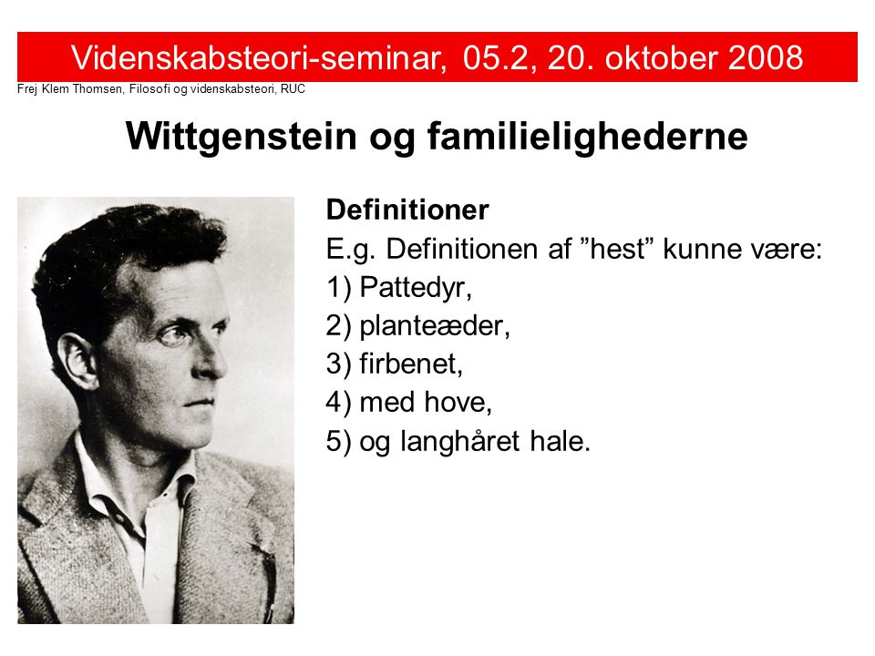Wittgenstein og familielighederne