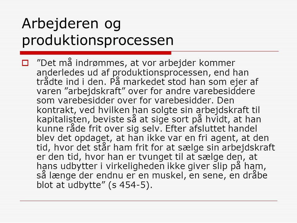 Arbejderen og produktionsprocessen