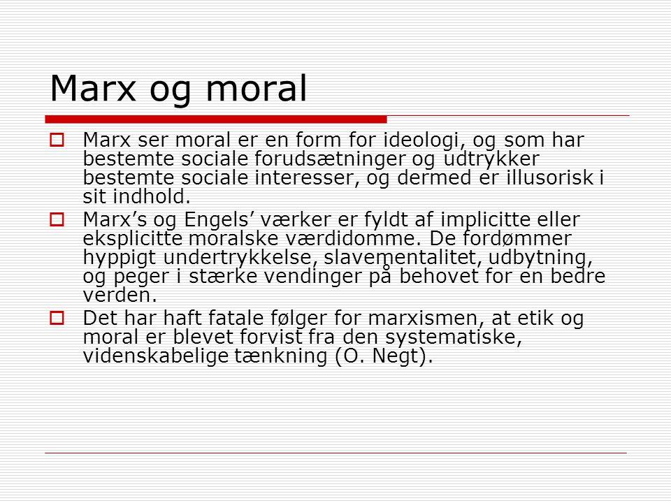 Marx og moral